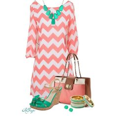 Chevron Summer Love, created by kginger on Polyvore