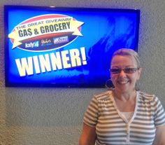 Linda Gering won $100 in The Great Gas & Grocery Giveaway from KXLY4, Divine's & Yokes.