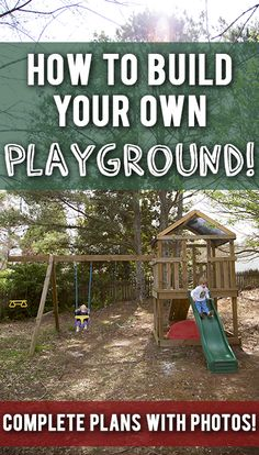 Build your own wood swingset/playset for your kids! Complete diagrams and step-by-step pics!
