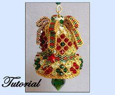 Crystal Bell Ornament Pattern by Paula Adams AKA Visions by Paula at Bead-Patterns.com