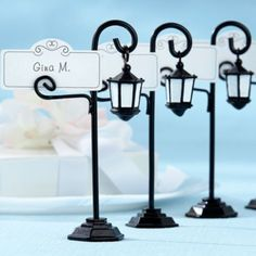 Bourbon Street Streetlight Place Card Holder Wedding Favor - Party City perfect for an outdoor diorama scene!!