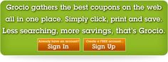 Free on line printable coupons pulled from many sources on to one web page.