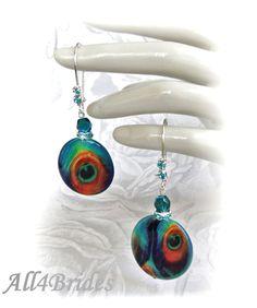 Peacock Earrings Bri