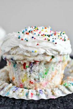 Homemade funfetti cupcakes.