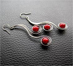 Earrings - spiral  #wirework