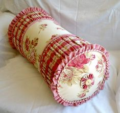 French Country Neck Roll Pillow