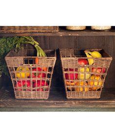 Love this Antique Walnut Brown Wicker Pantry Basket on #zulily! #zulilyfinds