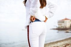 """Aimee Song says, """"White is a must-have for any nautical look!"""" #CatalinaIsland #DreamingInBlue"""