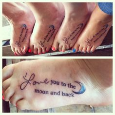 i love you to the moon and back is something my nana used
