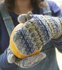 """Lodestar Mittens by Amy Christoffers This pattern is part of the """"Green Mountain Weekend"""" ebook."""
