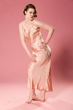 I don't mind the idea of a champagne-blush pink slip dress as a base for an Art Deco vintage inspired wedding look. Add lots of crystal and fur? vintage lingerie, pink slip, champagne, slip dress, blushes, vintage inspired wedding, crystal, deco vintage, art deco