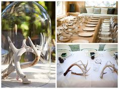 antlers as centerpieces | how to incorporate antler details in your wedding by oh lovely day