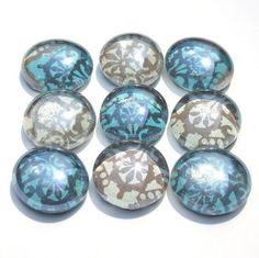 DIY Marble magnets w/scrapbook paper