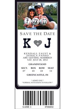 Baseball Save the Date - I'm totally doing this!!! But with Cards instead of Yankees of course.