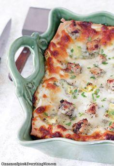 Chicken Artichoke Lasagna.