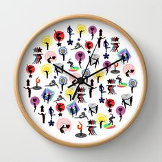lovers and believers - put them in a circle Wall Clock by Randi Antonsen - $30.00