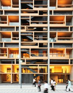 build architectur, japan, pattern, facad, architectur build, nikken sekkei, tokyo architecture, architecture tokyo, mokuzai kaikan