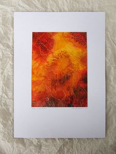 Original Painting art watercolor Orange by TheGoldenTrees on Etsy, €69.00