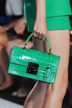 Kelly green croc - Michael Kors, Spring 2013.