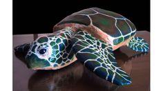 Papier Mache Sea Turtle