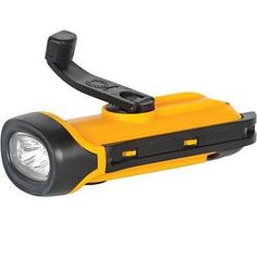Solar and hand powered Safety Flashlight