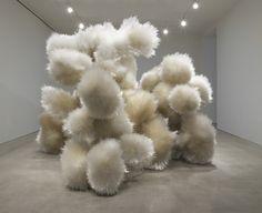 """Tara Donovan, 2014. acrylic and adhesive, 10' 1/2"""" x 14' 2"""" x 12' 10-3/4"""" (306.1 cm x 431.8 cm x 393.1 cm)."""