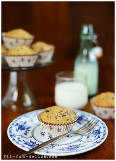 Chocolate Banana Muffins for breakfast! Only 10 minutes prep time.