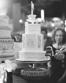 A red velvet wedding cake with cream cheese buttercream, by Cake Opera Co.