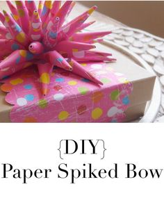 {DIY Paper Spiked Bow}