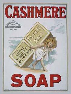 vintag, soaps, cashmer soap, metals, metal signs