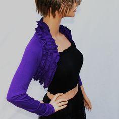 Purple Shrug bolero bridal shrug bridal by MIRIMIRIFASHION on Etsy, $49.00