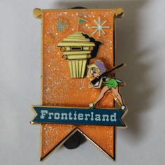 Disney Trading Pin 1955 Tinker Bell Lands Banner Frontierland Only LE 250 Rare