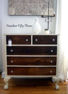 Two-Toned Antique Dresser - Number Fifty-Three