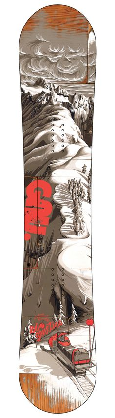 Gnu Snowboard graphics 2012-13 by Adam Haynes, via Behance