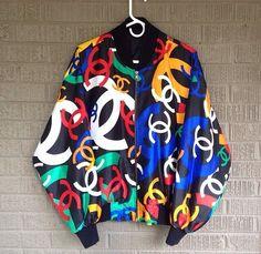 chanel jacket vintage bomber