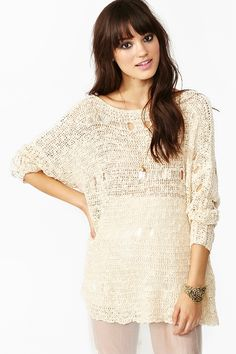 Vienna Knit - Cream in Clothes Tops at Nasty Gal