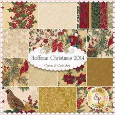 Hoffman Christmas 2014 14 FQ Set - Cream