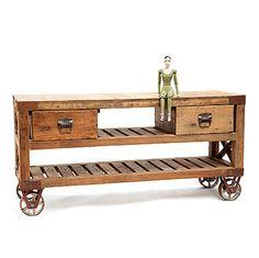 Reclaimed wood cart decor, coffee tables, idea, reclaim wood, kitchen carts, wood cart, furnitur, coffe tabl, kitchen islands