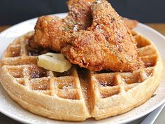 Chicken & Waffles is the *perfect* brinner (that's breakfast for dinner) recipe.