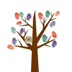 More Fun Yearbook Page Ideas fingerprint tree