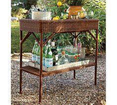 Palmetto All-Weather Wicker Bar Console - Honey #potterybarn