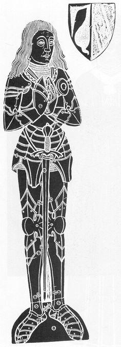 brass rubbing - William Wingfield, 1481, Letheringham, Norfolk