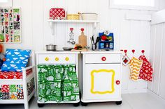 colorful play kitchen