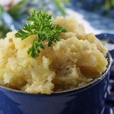 Yukon Gold Mashed Potatoes with Roasted Shallots