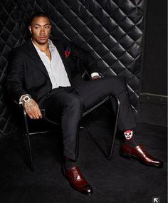 Derrick Rose rose perfectioncheck, style, socks, roses, derrick rose