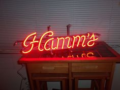 1987 Hamm's Beer Red Neon Light Sign | eBay.   Sold for $132.50 (13 bids)  plus $20 S&H