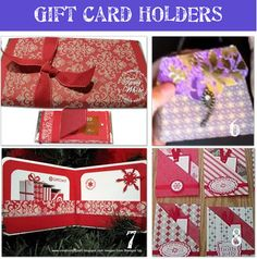 christma card, card idea, homemade gifts, money holder, gift cards