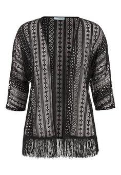 lace kimono with fri