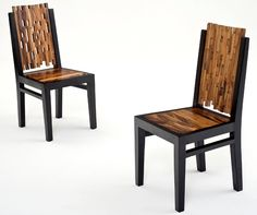 Wood Chair Design #4 - Shown in Dark Color Wood - Item # DC06026 - Available in Light Color Wood