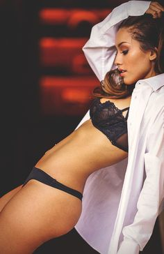 boudoir photography with men's shirt